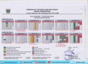 Kalender Pendidikan Tp 2019 2020 Dinas Pendidikan Sumatera Barat